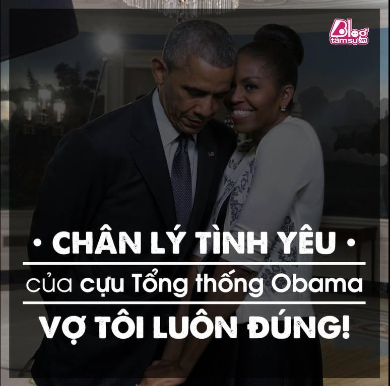 Chân lý tình yêu của cựu tổng thống Obama - vợ tôi luôn đúng ...